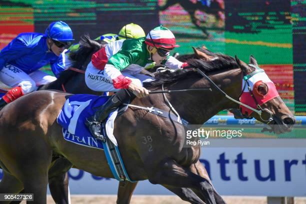 Del Piero ridden by Justin Huxtable wins the Hygain Winnerâs Choice BM78 Handicap at SportsbetBallarat Racecourse on January 16 2018 in Ballarat...