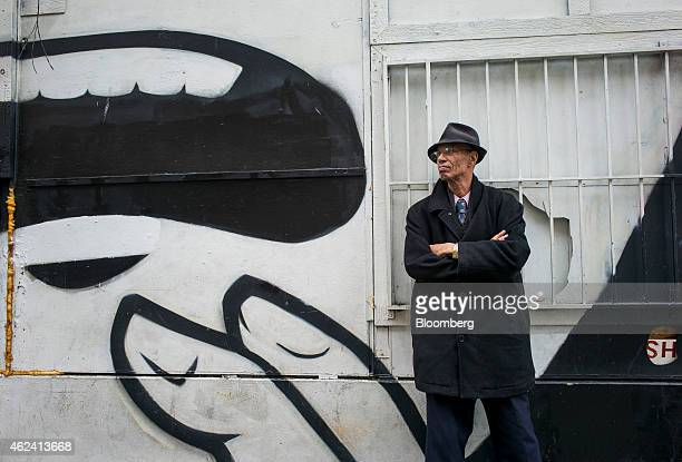 Del Seymour stands for a photograph in the Tenderloin district of San Francisco California US on Monday Jan 19 2015 In a city where wealth has...