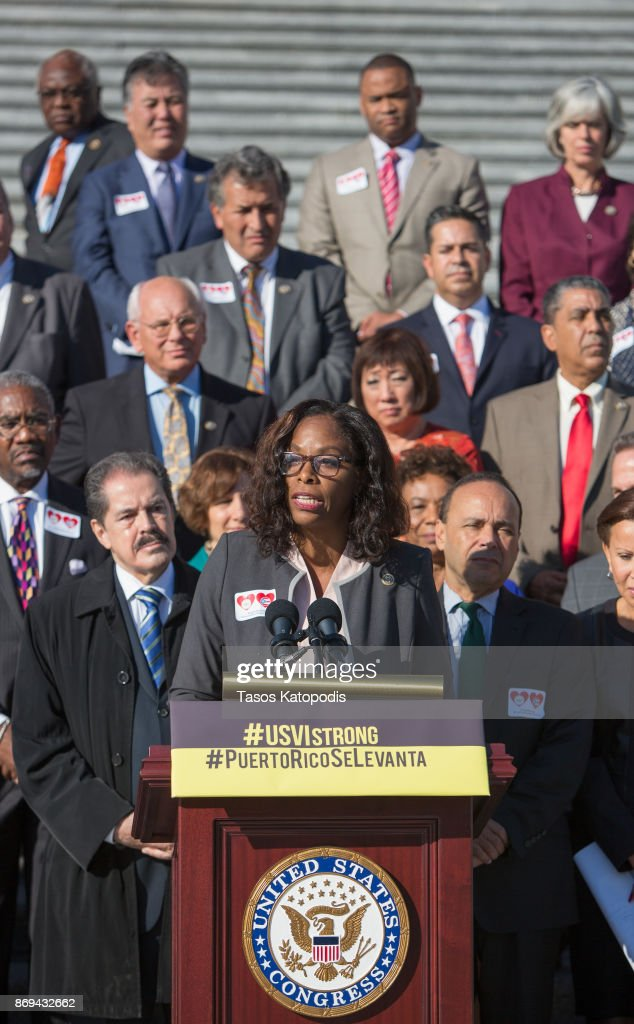 House Democrats Hold Solidarity Event For Puerto Rico And USVI After Hurricanes : News Photo