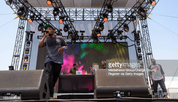 Del The Funky Homosapien left performs with Hieroglyphics at the Summertime in the LBC concert at the Queen Mary in Long Beach on Saturday August 5...
