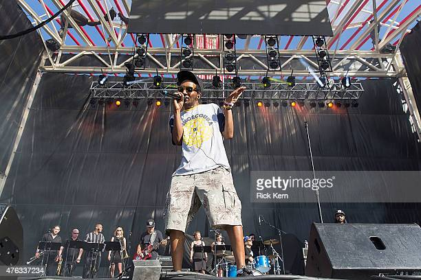 Del the Funky Homosapien of Deltron 3030 performs in concert during X Games Austin at Circuit of The Americas on June 7 2015 in Austin Texas