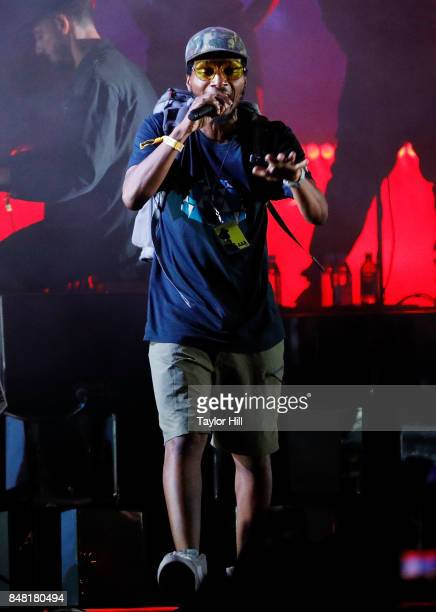 Del the Funky Homosapien performs onstage with the Gorillaz during Day 2 at The Meadows Music Arts Festival at Citi Field on September 16 2017 in New...