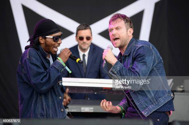 Del the Funky Homosapien performs with Damon Albarn onstage at What Stage during day 3 of the 2014 Bonnaroo Arts And Music Festival on June 14 2014...