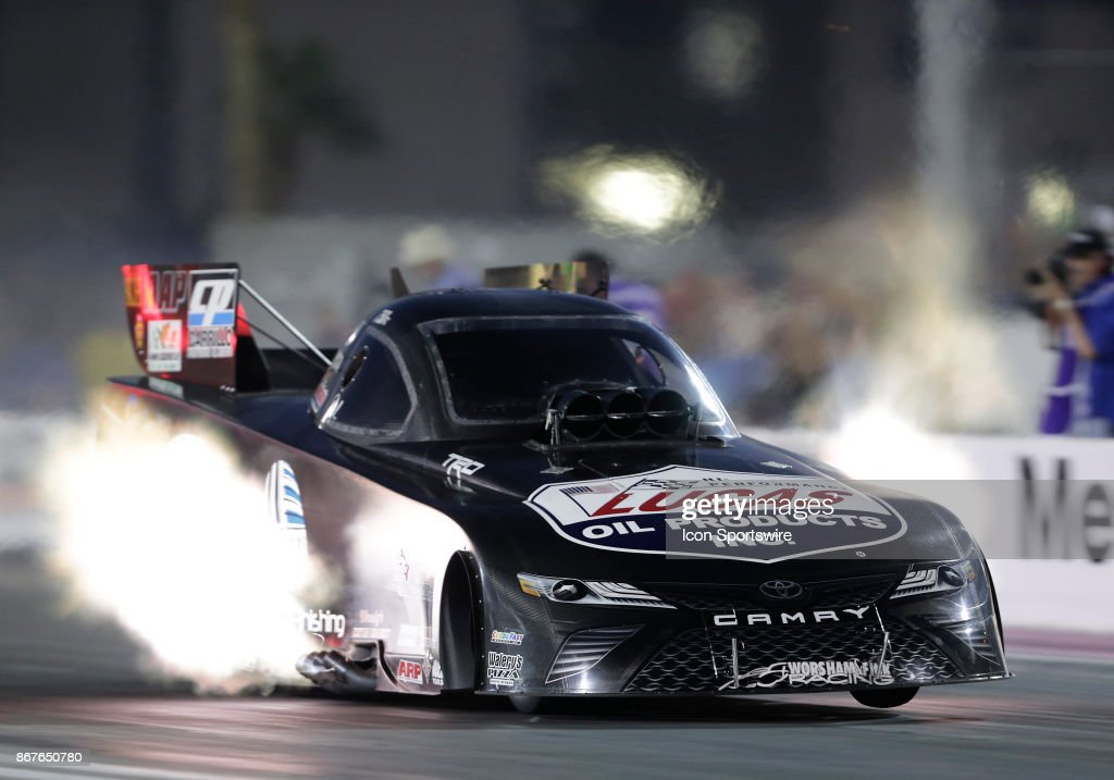 Del Worsham Toyota Camry Nhra Funny Car Races Down The Track During