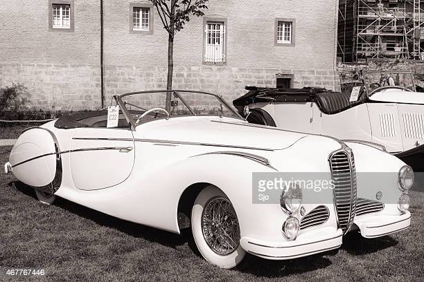 delahaye 135 m cabriolet by saoutchik classic car - delahaye stock photos and pictures