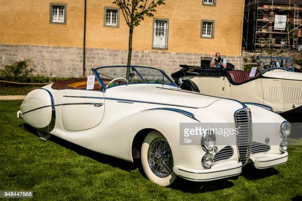 "delahaye 135 m cabriolet by saoutchik classic car - ""sjoerd van der wal"" or ""sjo"" stock pictures, royalty-free photos & images"