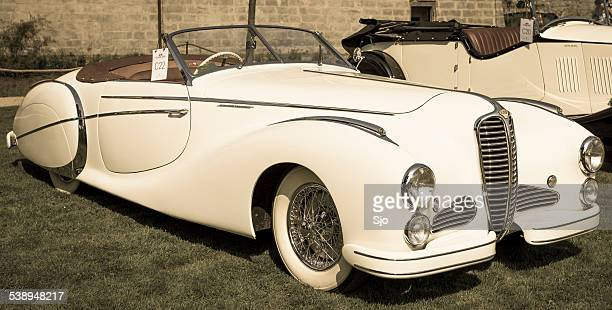 delahaye 135 m cabriolet by saoutchik - delahaye stock photos and pictures