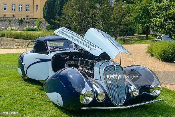 delahaye 135 m cabriolet figoni & falaschi classic car - delahaye stock photos and pictures