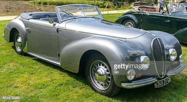 delahaye 135 m cabriolet - delahaye stock photos and pictures