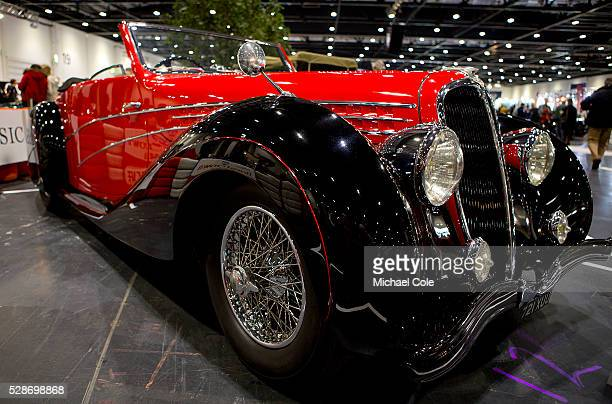 Delahaye 135M Le Tournier Marchand Cabriolet at The London Classic Car Show at The ExCel Centre 10th Jan 2015