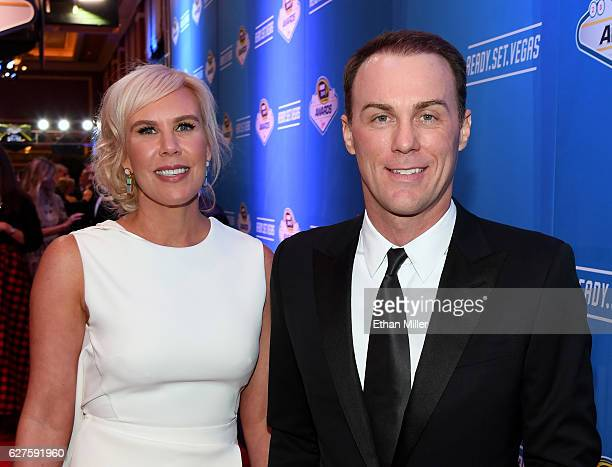 DeLana Harvick and her husband, NASCAR Sprint Cup Series driver Kevin Harvick, attend the 2016 NASCAR Sprint Cup Series Awards at Wynn Las Vegas on...