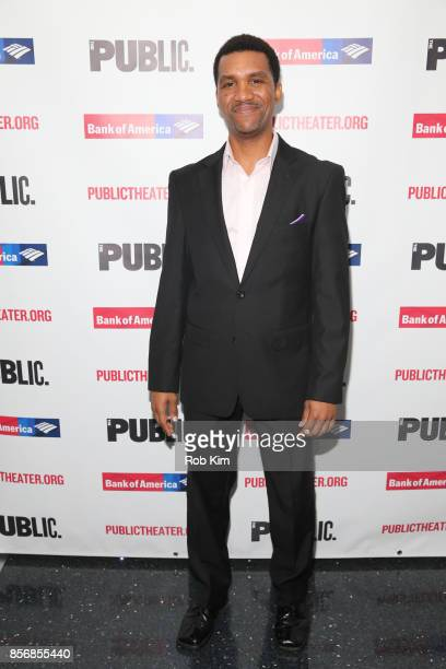 """Delance Minefee attends the opening night celebration of """"Tiny Beautiful Things"""" at The Public Theater on October 2, 2017 in New York City."""