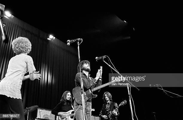 Delaney and Bonnie and friends perform on stage in Copenhagen Denmark 10 December 1969 LR Bonnie Bramlett George Harrison Delaney Bramlett and Eric...