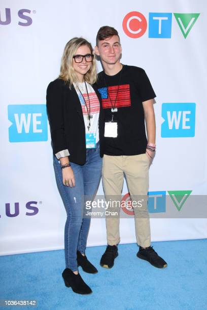Delaney Tarr and Adam Alhanti arrive to WE Day Toronto and the WE Carpet at Scotiabank Arena on September 20 2018 in Toronto Canada