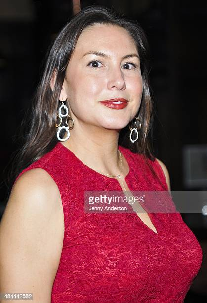 """DeLanna Studi attends """"Informed Consent"""" opening night after party at Tir Na Nog on August 18, 2015 in New York City."""