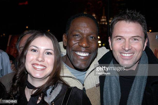 Delanna Studi James McDaniel and Tim Daly during 2004 Sundance Film Festival 'Edge of America' Premiere at Abranavel Hall in Park City Utah United...