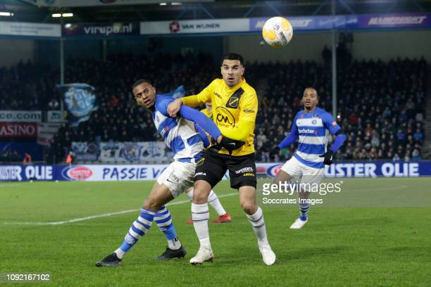 Delano Burgzorg of De Graafschap Daan Klomp of NAC Breda during the Dutch Keuken Kampioen Divisie match between De Graafschap v NAC Breda at the De...