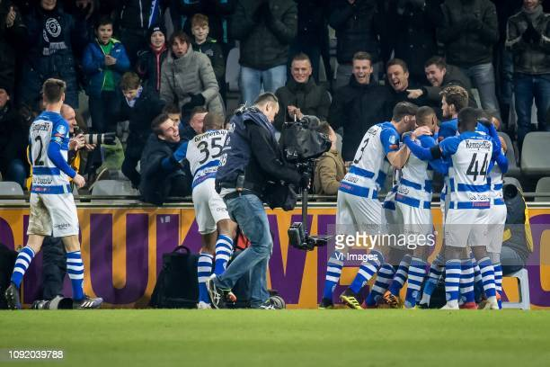 Delano Burgzorg of De Graafschap during the Dutch Eredivisie match between De Graafschap Doetinchem and NAC Breda at De Vijverberg stadium on...
