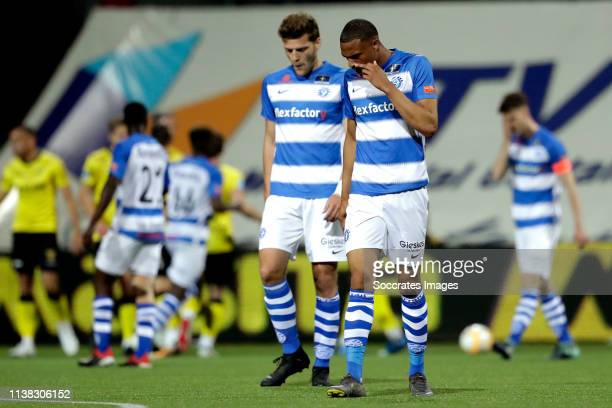 Delano Burgzorg of De Graafschap during the Dutch Eredivisie match between VVVvVenlo De Graafschap at the Seacon Stadium De Koel on April 20 2019 in...