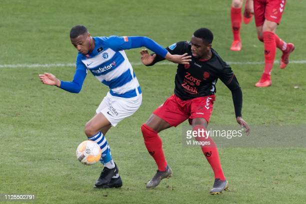 Delano Burgzorg of De Graafschap Gyrano Kerk of FC Utrecht during the Dutch Eredivisie match between De Graafschap Doetinchem and FC Utrecht at De...