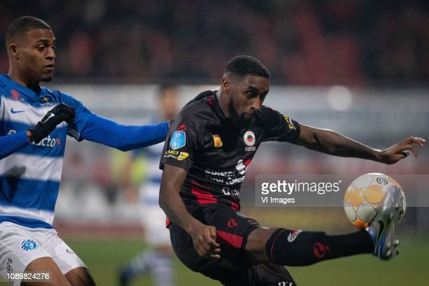 Delano Burgzorg of De Graafschap Jeffry Fortes of sbv Excelsior during the Dutch Eredivisie match between sbv Excelsior Rotterdam and De Graafschap...