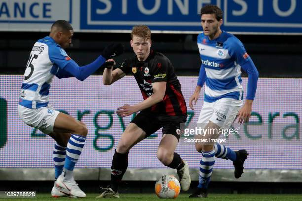 Delano Burgzorg of De Graafschap Jerdy Schouten of Excelsior during the Dutch Eredivisie match between Excelsior v De Graafschap at the Van Donge De...