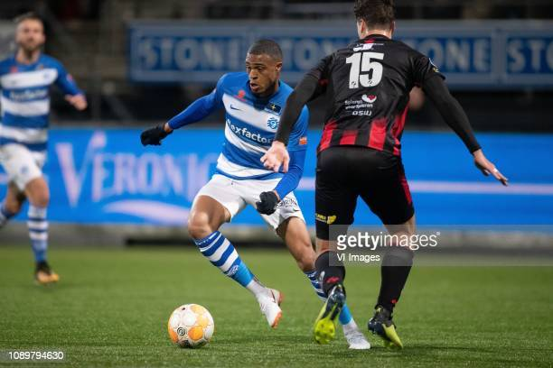 Delano Burgzorg of De Graafschap Jurgen Mattheij of sbv Excelsior during the Dutch Eredivisie match between sbv Excelsior Rotterdam and De Graafschap...