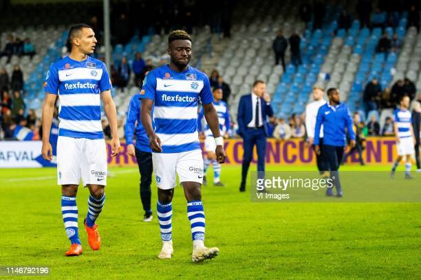 Delano Burgzorg of De Graafschap Leeroy Owusu of De Graafschap during the Dutch Keuken Kampioen Divisie play off final second leg match between De...