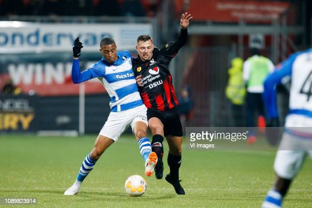 Delano Burgzorg of De Graafschap Thomas Oude Kotte of Excelsior during the Dutch Eredivisie match between sbv Excelsior Rotterdam and De Graafschap...