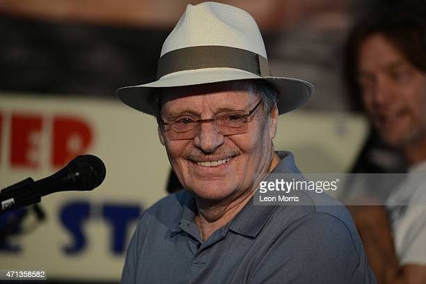 Delbert McClinton being interviewed on the Allison Miner Heritage Stage at the New Orleans Jazz and Heritage Festival on April 26 2015 in New Orleans...