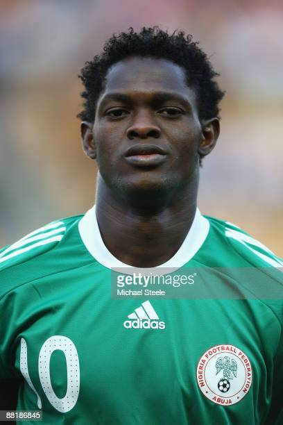 Dele Adeleye of Nigeria during the International Friendly match between France and Nigeria at the Stade GeoffroyGuichard on June 2 2009 in St Etienne...