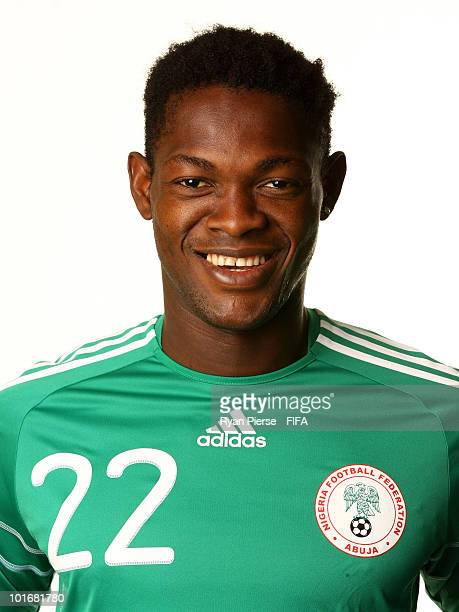 Dele Adeleye of Nigeria poses during the official FIFA World Cup 2010 portrait session on June 6 2010 in Johannesburg South Africa