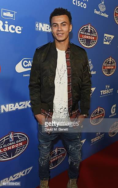 Dele Alli attends the Denver Nuggets v Indiana Pacers game during NBA Global Games London 2017 at The O2 Arena on January 12 2017 in London England
