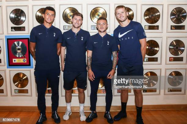 Dele Alli Ben Davies Kieran Trippier and Eric Dier of the Tottenham Hotspur FC visit the Country Music Hall of Fame and Museum on July 27 2017 in...