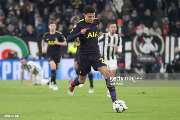 Dele Alli in action during the UEFA Champions League 2017/18 football match between Juventus FC and Tottenham Hotspur FC at Allianz Stadium on 13...