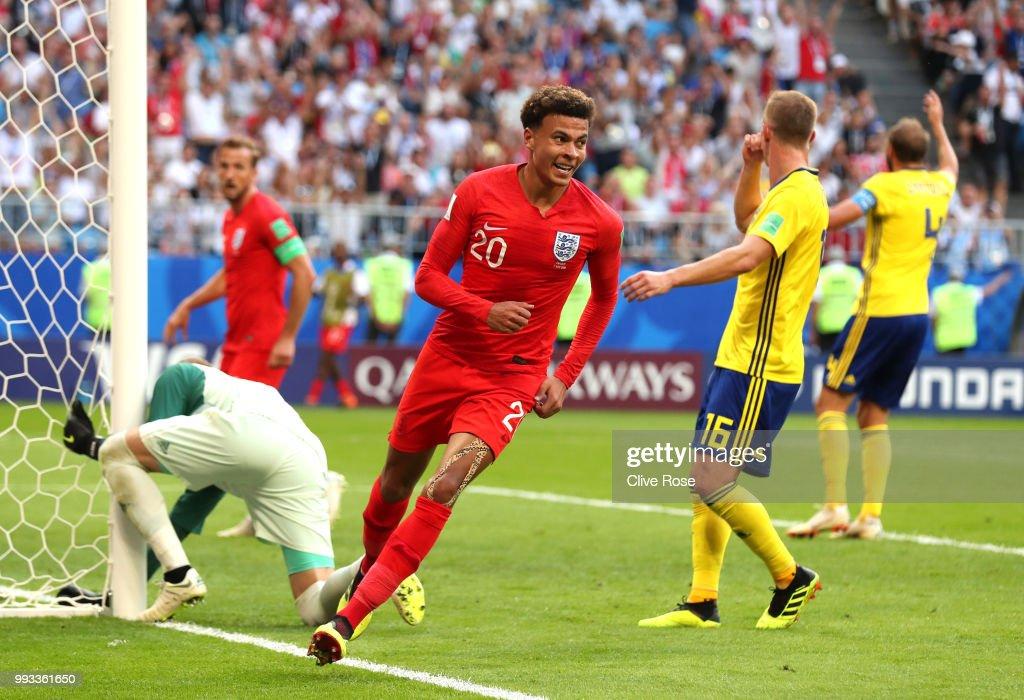 Sweden v England: Quarter Final - 2018 FIFA World Cup Russia : News Photo