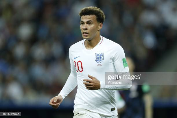 Dele Alli of England during the 2018 FIFA World Cup Russia Semi Final match between Croatia and England at the Luzhniki Stadium on July 11 2018 in...