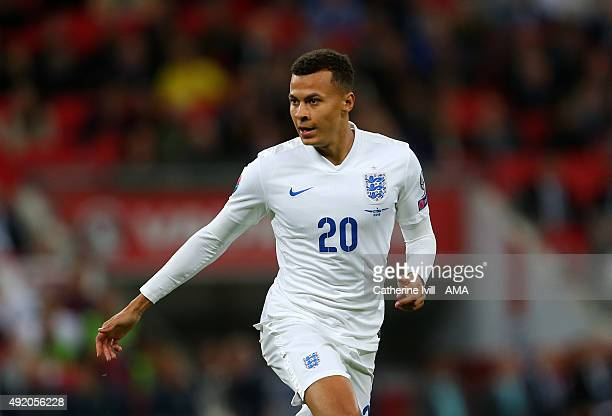 Dele Alli of England during the UEFA EURO 2016 Qualifier match between England and Estonia at Wembley Stadium on October 9 2015 in London United...