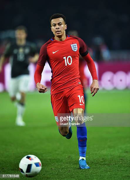 Dele Alli of England in action during the international friendly match between Germany and England at Olympiastadion on March 26 2016 in Berlin...