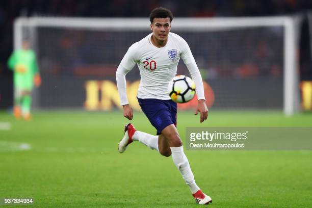 Dele Alli of England in action during the International Friendly match between Netherlands and England at Amsterdam ArenA also called the Johan...