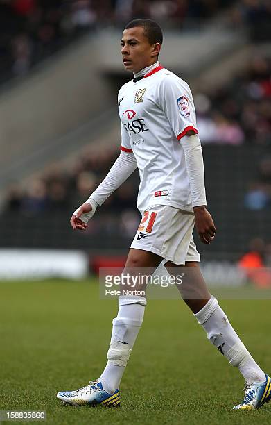 Dele Alli of Milton Keynes Dons in action during the npower League One match between Milton Keynes Dons and Coventry City at Stadium mk on December...