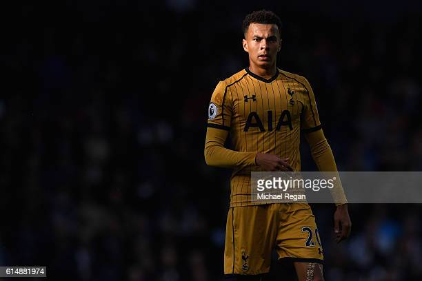 Dele Alli of Spurs looks on during the Premier League match between West Bromwich Albion and Tottenham Hotspur at The Hawthorns on October 15 2016 in...