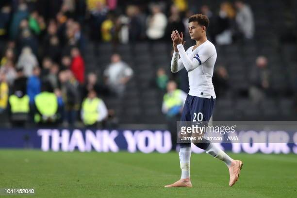 Dele Alli of Tottenham during the Carabao Cup Third Round match between Tottenham Hotspur and Watford at Stadium mk on September 26 2018 in Milton...