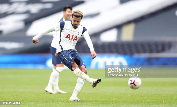 Dele Alli of Tottenham Hotspur after the final whistle during the preseason friendly match between Tottenham Hotspur and Birmingham City at Tottenham...