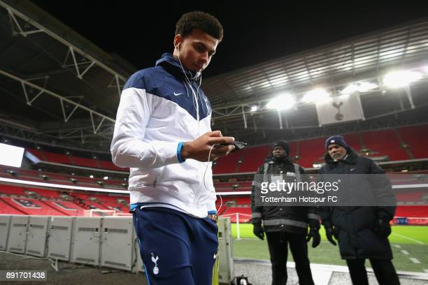 Dele Alli of Tottenham Hotspur arrives at the stadium prior to the Premier League match between Tottenham Hotspur and Brighton and Hove Albion at...