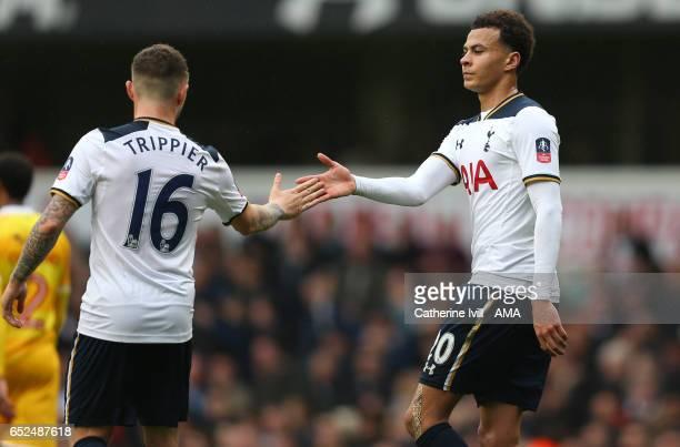 Dele Alli of Tottenham Hotspur celebrates after scoring to make it 40 with Kieran Trippier of Tottenham Hotspur during The Emirates FA Cup...