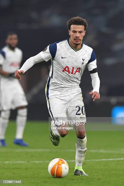 Dele Alli of Tottenham Hotspur controls the ball during the UEFA Europa League Group J stage match between Tottenham Hotspur and PFC Ludogorets...