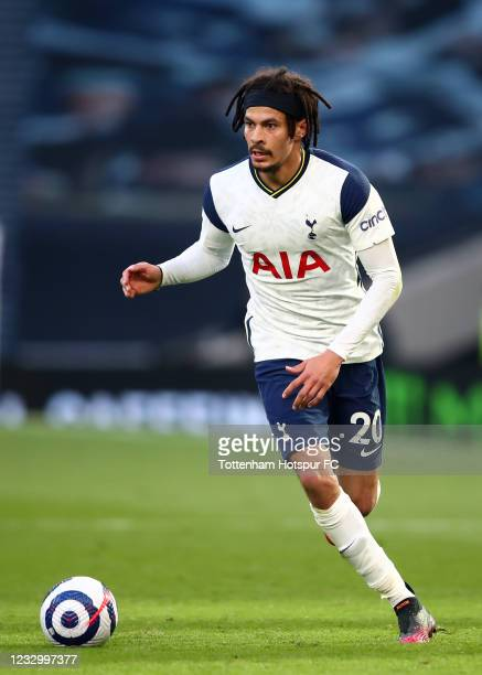 Dele Alli of Tottenham Hotspur during the Premier League match between Tottenham Hotspur and Aston Villa at Tottenham Hotspur Stadium on May 19, 2021...