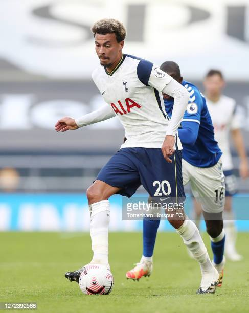 Dele Alli of Tottenham Hotspur during the Premier League match between Tottenham Hotspur and Everton at Tottenham Hotspur Stadium on September 13...