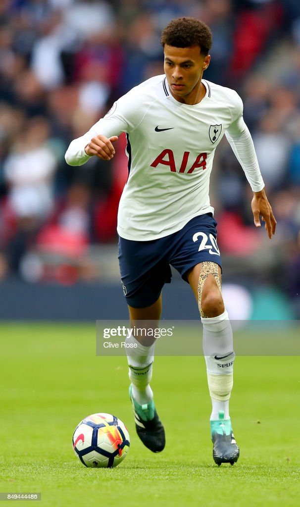 Dele Alli of Tottenham Hotspur during the Premier League match between Tottenham Hotspur and Swansea City at Wembley Stadium on September 16, 2017 in London, England.